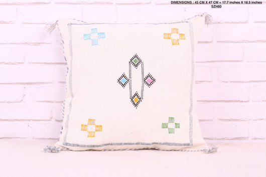 Decorative Moroccan rug pillow