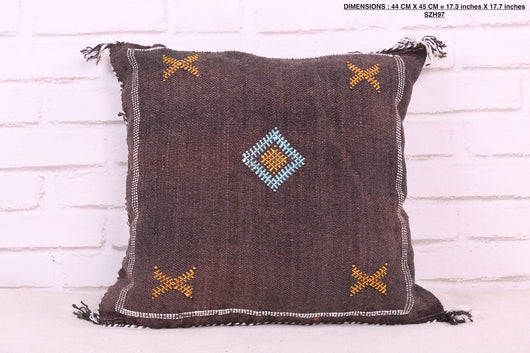 Dramatic Moroccan rug pillow