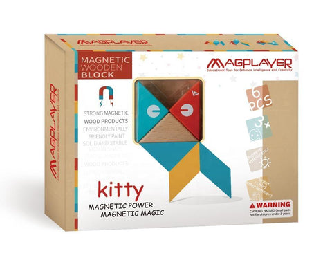 SET MAGNETIC DIN LEMN - MAGPLAYER (MPW-6)