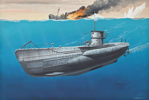 MACHETA SUBMARIN REVELL GERMAN SUBMARINE TYPE VII C - 05093 - REVELL