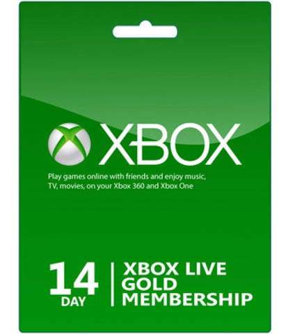 XBOX LIVE GOLD 14 DAYS - WORLDWIDE
