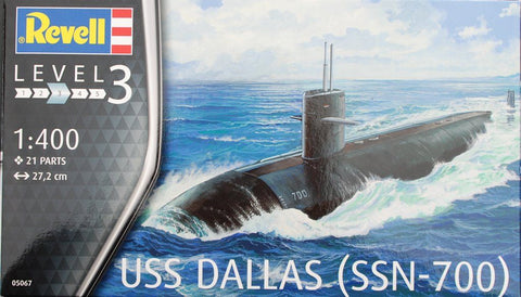 US NAVY SUBMARINES USS DALLAS REVELL RV5067 - REVELL
