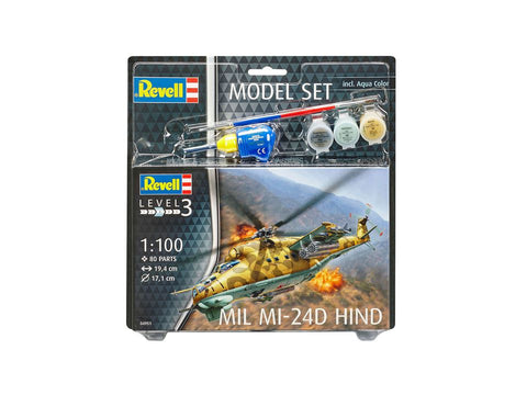 MODEL SET - ELICOPTER MILITAR MI024D HIND - RV64951 - REVELL