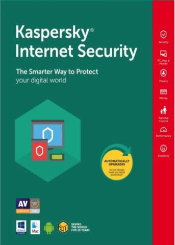 KASPERSKY INTERNET SECURITY 2020 (5 DEVICES, 1 YEAR) - OFFICIAL WEBSITE - MULTILANGUAGE - EU - PC