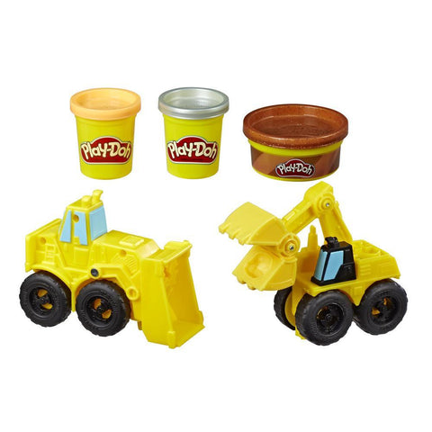 PLAY-DOH WHEELS EXCAVATOR AND LOADER TOY CONSTRUCTION TRUCKS - HASBRO (HBE4294)