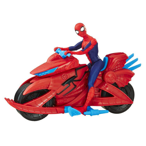 MARVEL SPIDER-MAN FIGURE WITH CYCLE - HASBRO (HBE3368)