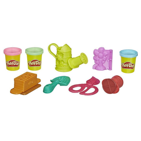 PLAY-DOH GROWIN' GARDEN TOY GARDENING TOOLS SET FOR KIDS WITH 3 NON-TOXIC COLORS - HASBRO (HBE3564)