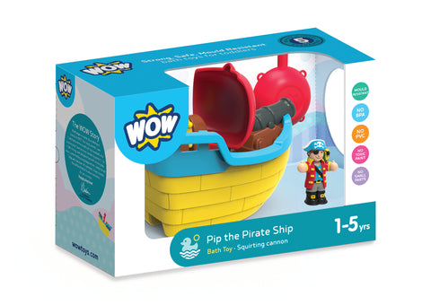 PIP THE PIRATE SHIP (BATH TOY) - WOW TOYS (W10348)