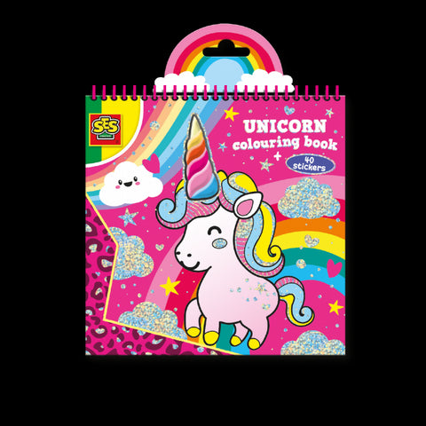 CARTE DE COLORAT UNICORN + 40 ABTIBILDURI - SES CREATIVE (S00111)