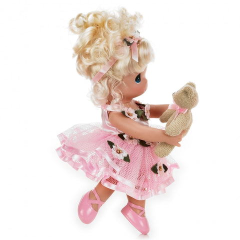 PAPUSA DECOR, DANSEAZA CU MINE - BLONDA, 23 CM - PRECIOUS MOMENTS (ST20X3466)