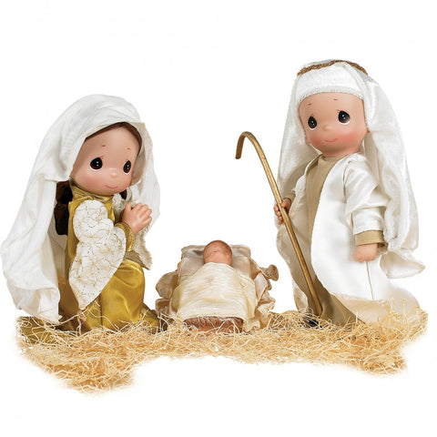 SET PAPUSI DECOR, PRIMUL CRACIUN, 23 CM - PRECIOUS MOMENTS (ST20X3495)