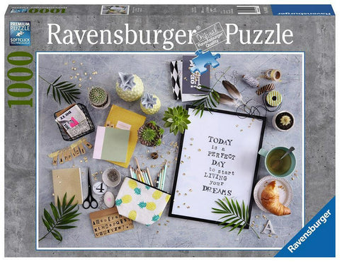 PUZZLE 'START LIVING YOUR DREAM', 1000 PIESE - RAVENSBURGER (RVSPA19829)