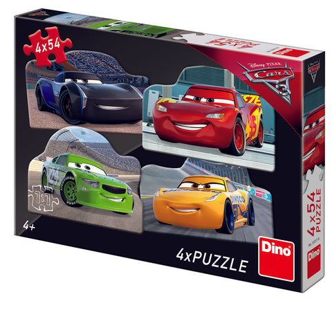 PUZZLE 4 IN 1 - CARS 3 (54 PIESE) - DINO TOYS (333178)