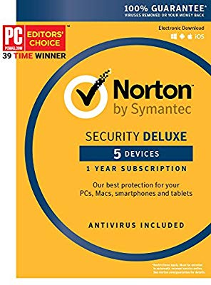 NORTON SECURITY DELUXE MULTI DEVICES 2017 1 YEAR 5 PC - OFFICIAL WEBSITE - MULTILANGUAGE - EU - PC