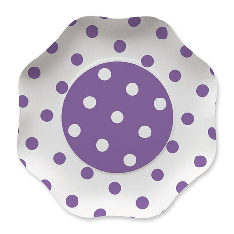 FARFURII 23 CM POIS VIOLET 10 BUC/SET BIG PARTY (BP60893)