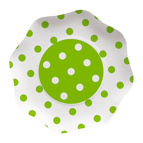 FARFURII 23 CM POIS VERDE 10 BUC/SET BIG PARTY (BP60899)