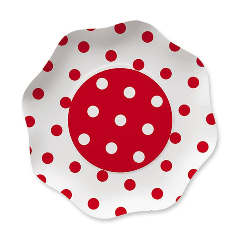 FARFURII 23 CM POIS ROSU 10 BUC/SET BIG PARTY (BP60905)