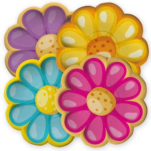 FARFURII 29 CM MIX FLORI 8 BUC/SET BIG PARTY (BP61431)