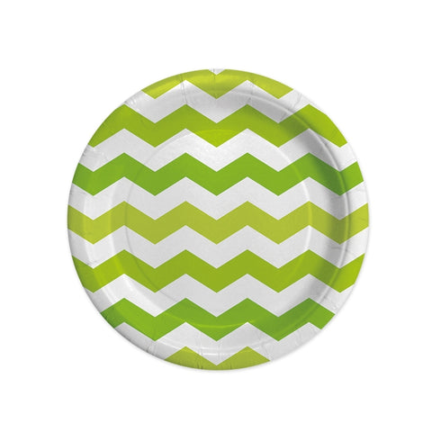 FARFURII 18 CM ZIG ZAG VERDE 8 BUCATI/SET BIG PARTY (BP61463)