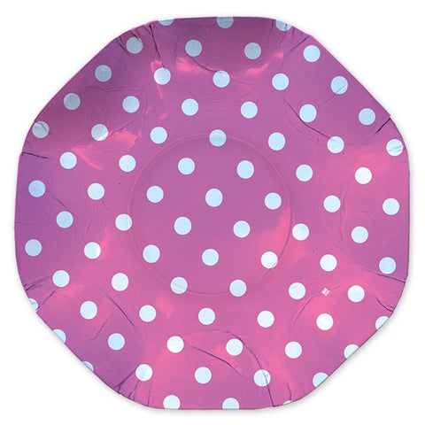 PLATOU ROTUND 32 CM POIS FUXIA BIG PARTY (BP61656)