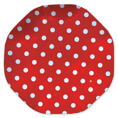 PLATOU ROTUND 32 CM POIS ROSU BIG PARTY (BP61658)