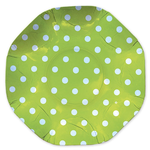 PLATOU ROTUND 32 CM POIS VERDE BIG PARTY (BP61659)
