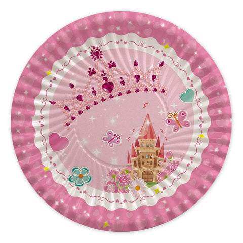 FARFURII 24 CM PRINCESS 8 BUC/SET BIG PARTY (BP61750)
