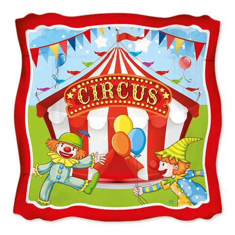 FARFURII 24 CM CIRCUS PARTY 8 BUC/SET BIG PARTY (BP61927)
