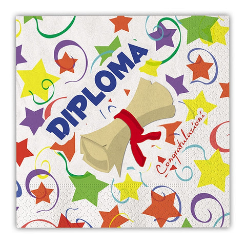 SERVETELE 33 X 33 CM DIPLOMA 20 BUC/SET BIG PARTY (BP66095)