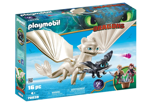LIGHT FURY, PUI DE DRAGON SI COPII - PLAYMOBIL (PM70038)