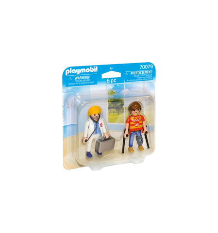 SET 2 FIGURINE - DOCTOR SI PACIENT - PLAYMOBIL (PM70079) Libelula Vesela
