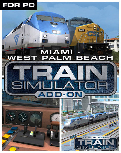 TRAIN SIMULATOR - MIAMI - WEST PALM BEACH ROUTE ADD-ON (DLC) - STEAM - PC - EU