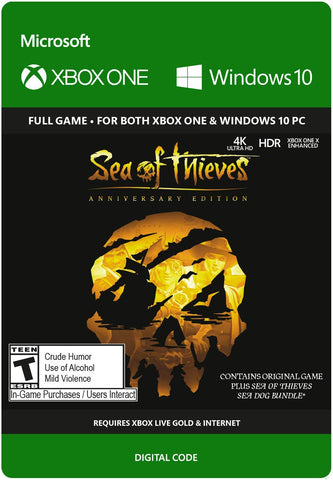 SEA OF THIEVES ANNIVERSARY EDITION - XBOX ONE / WINDOWS 10 - XBOX LIVE - MULTILANGUAGE - WORLDWIDE