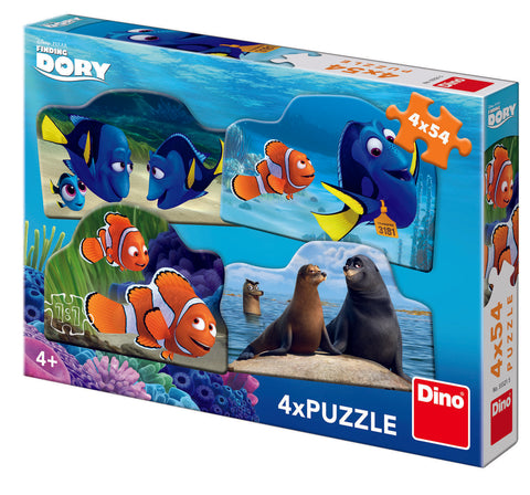 PUZZLE 4 IN 1 - DORY IN MAREA AVENTURA (54 PIESE) - DINO TOYS (333215)
