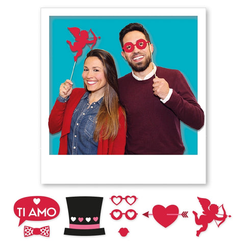 PHOTO BOOTH 20 CM PASIUNE 8 BUC/SET BIG PARTY (BP81460)