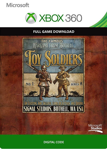 TOY SOLDIERS - XBOX 360 - XBOX LIVE - WORLDWIDE - MULTILANGUAGE Libelula Vesela