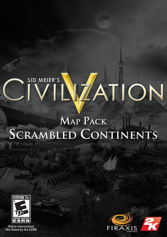 SID MEIER'S CIVILIZATION V - MAP PACK: SCRAMBLED CONTINENTS (DLC) - STEAM - PC - EU