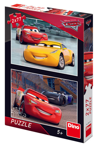PUZZLE 2 IN 1 - CARS 3: CURSA CEA MARE (77 PIESE) - DINO TOYS (386150)
