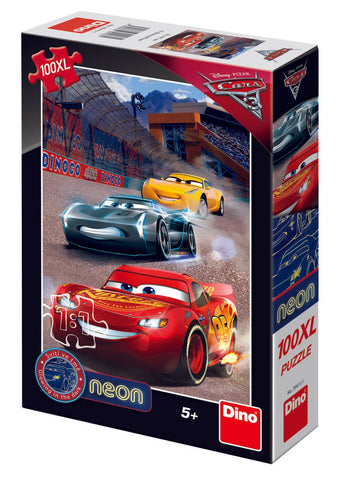 PUZZLE CARS 3 NEON - 100XL - DINO TOYS (394131)