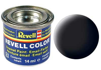 BLACK, MAT 14 ML - REVELL (RV32108)
