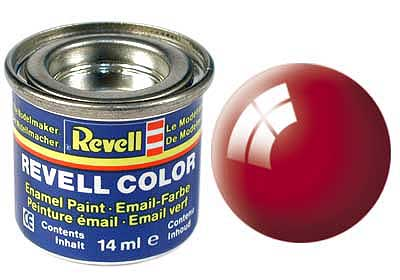 FIERY RED, GLOSS 14 ML - REVELL (32131) Libelula Vesela Jucarii