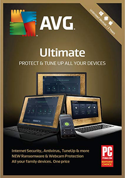 AVG ULTIMATE (UNLIMITED DEVICES, 1 YEAR) - OFFICIAL WEBSITE - MULTILANGUAGE - WORLDWIDE - PC