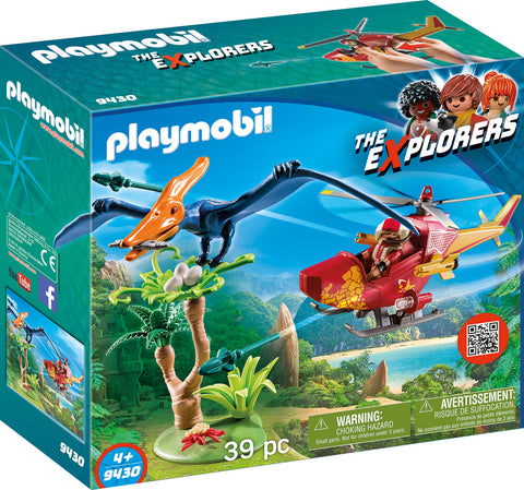 CERCETATOR - ELICOPTER SI PTERODACTYL - PLAYMOBIL (PM9430)