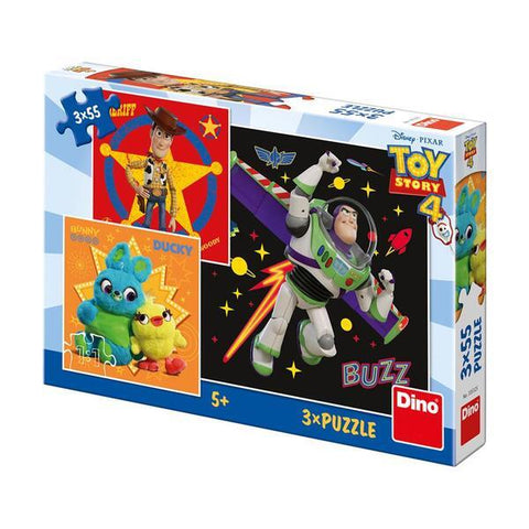 PUZZLE 3 IN 1 - TOY STORY 4 (55 PIESE) - DINO TOYS (335325)