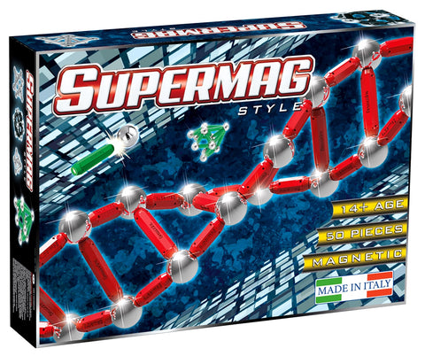 SUPERMAG STYLE - SET CONSTRUCTIE 50 PIESE - SUPERMAG (SM0201)