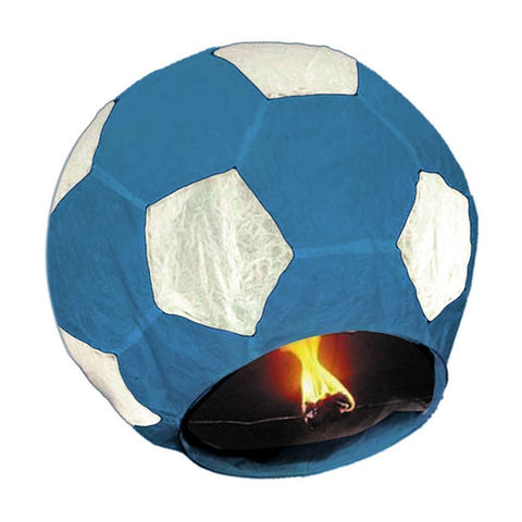 LAMPION MINGE DE FOTBAL ALBASTRA 100 CM BIG PARTY (BP32019)
