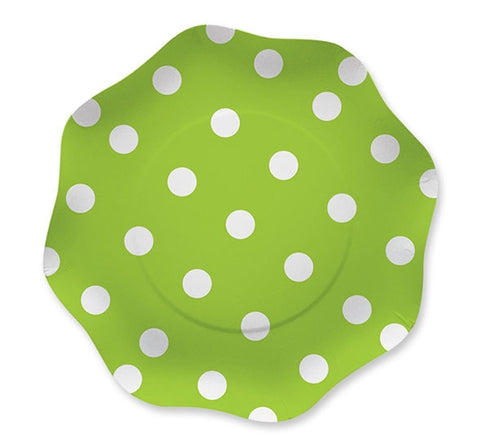 SET 10 FARFURII 18 CM VERDE BIG PARTY (BP60900)