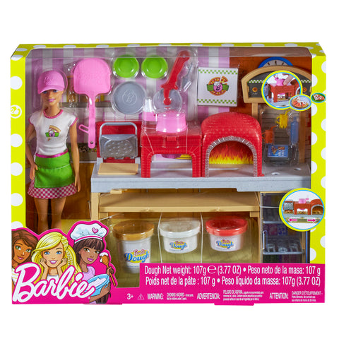 BARBIE® PIZZA CHEF DOLL AND PLAYSET - MATTEL  (FHR09)