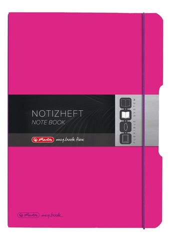 CAIET MY.BOOK FLEX A4 2X40 FILE DICTANDO+PATRATELE ROZ INCHIS HERLITZ (HZ9468920)