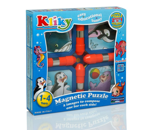 KLIKY PUZZLE MAGNETIC ANIMALE MARINE - SUPERMAG (SM0028)